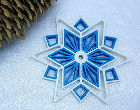 3D printable model snowflake Snowflake star
