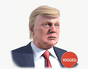 3D model Donald Trump rigged