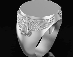 Ring with eagles 3D print model