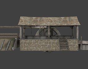 medieval sawmill 3D