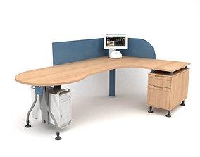 3D Wooden Computer Desk