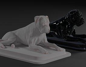 Boxer dog lie down 3D print model