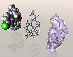 Librium molecule 3D model