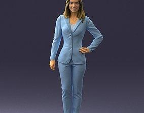 Woman in blue suit 0473 3D Print Ready