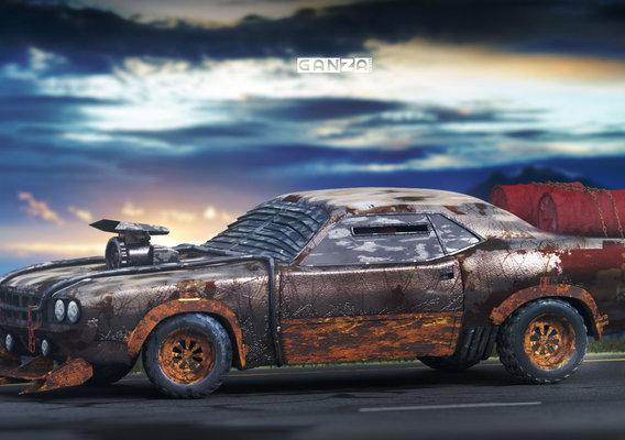 Plymouth Barracuda Zombie Apocalypse