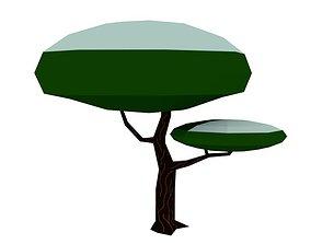 Winter tree 3D asset