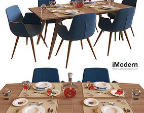 3D model Table and chairs Django and Morrison IModern
