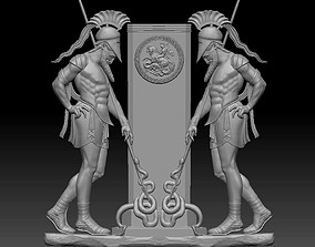 3d STL Model for CNC Router Greek miniatures