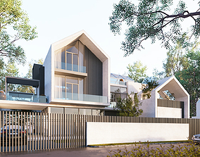 Exterior House Design 3 3D animated