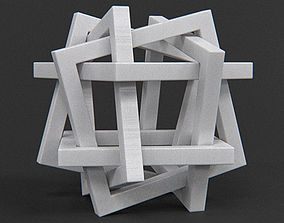 3D print model Orderly Tangle 01 - Six Hollow Squares