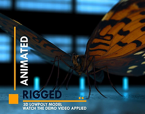 Butterfly 3D model animated VR / AR ready