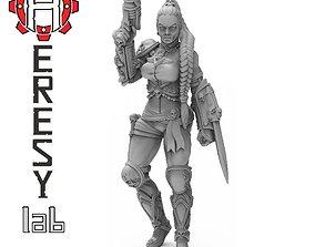 Ghost Female Assassin 3D printable model