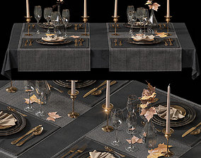 3D Table setting 2 cloth
