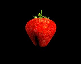 3D model game-ready Strawberry