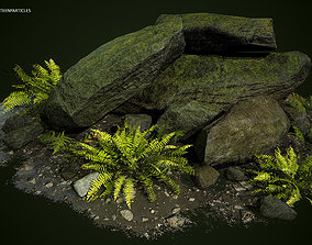 Rocks low-poly Game Ready Asset 3D model