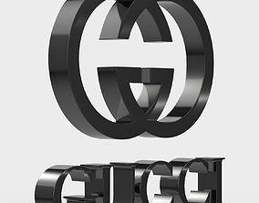 3D Gucci logo