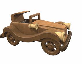 3D model Wooden car toy retro 1 children