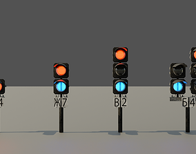 Modular Railroad Traffic Lights 3D Model