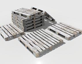Industrial Wooden Pallet 2 PBR 3D asset