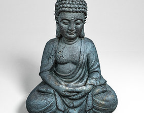 3D model game-ready Buddha statue
