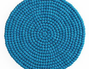 Ball of wool felt carpet 3D