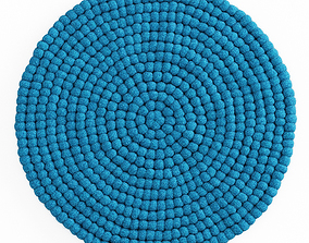 Ball of wool felt carpet 3D