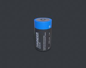 C Battery 3D asset low-poly