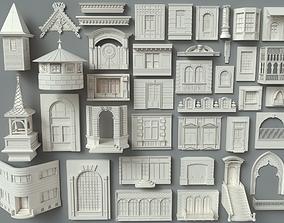 3D model Building Facade Collection-3 - 40 pieces