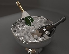 3D model interior Champagne Bucket