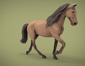 field HORSE 3D asset low-poly