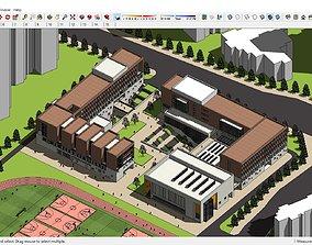 Sketchup College building B6 3D model