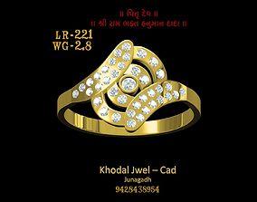ladies ring 3D model realtime fashion-ring