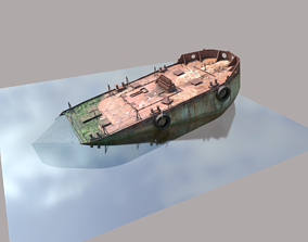 Old Ship Wreck 3D model