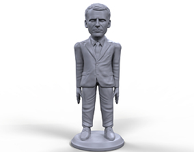 Emmanuel Macron stylized high quality 3D printable