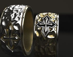 Cross forged wedding ring - original 3D printable model