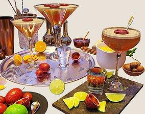 3D Cocktail Set PornStar Martini