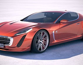 3D uncopyrighted Generic Coupe 2018