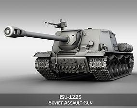 3D model ISU-122S - Soviet Assault Gun