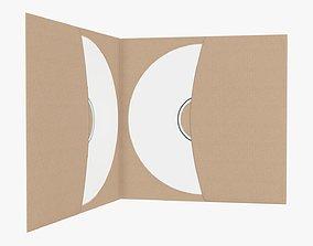 DVD in a paper brochure 3D