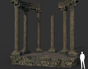 Low poly Ancient Roman Ruin Construction 05 - 3D model 1