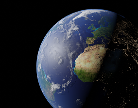 3D asset low-poly Earth