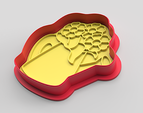 Cookie cutter and stamp - Flowers 3D print model