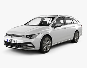 Volkswagen Golf variant 2020 family 3D model