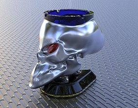 Alien Skull Ashtray 3D