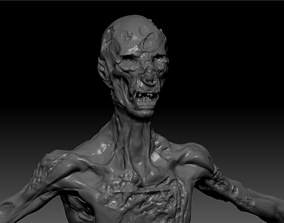 mythological-creature 3D Zombie Corpse High Poly Skulpt