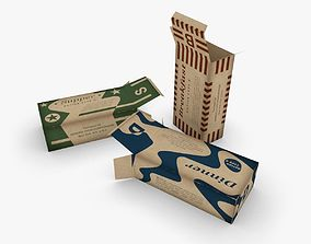 US K-Ration boxes End War WWII 3D asset