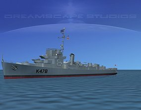 UK Captains Class Frigate HMAV Gardiner 3D model