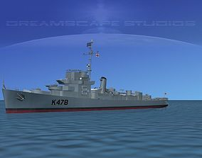 UK Captains Class Frigate HMAV Gardiner 3D model