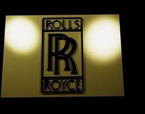 3D model Rolls Royce - Logo