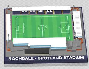 3D printable model Rochdale AFC - Spotland Stadium